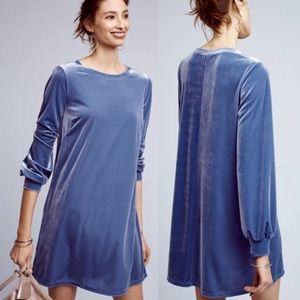 NWT Anthropologie Velvet Shift Mini Dress